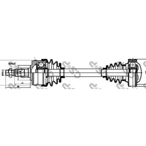 Приводной вал 235002 gsp - MERCEDES-BENZ VITO автобус (638) автобус 108 D 2.3 (638.164)