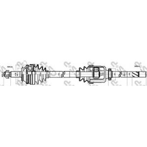Приводной вал 244004 gsp - RENAULT MASTER II фургон (FD) фургон 2.5 D