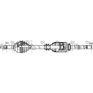 244013 gsp Приводной вал RENAULT TRAFIC автобус 1.9 dCI 80 (JL0B)