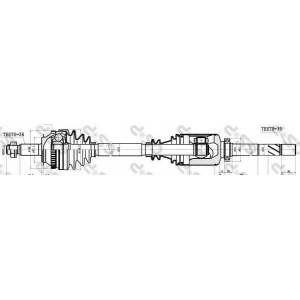 GSP 244017 Привод правый Master/Movano F9Q (39z внутр. x28) 1147mm +ABS 51z