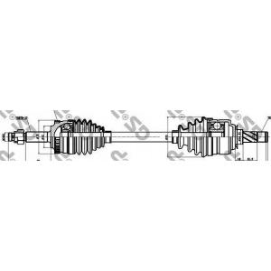 Приводной вал 244027 gsp - OPEL CORSA C (F08, F68) Наклонная задняя часть 1.8