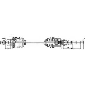 Приводной вал 245020 gsp - PEUGEOT 406 (8B) седан 1.6