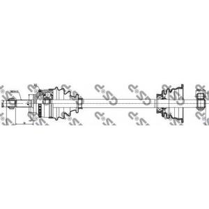 Приводной вал 250004 gsp - RENAULT CLIO II (BB0/1/2_, CB0/1/2_) Наклонная задняя часть 1.2 (BB0A, BB0F, BB10, BB1K, BB28, BB2D, BB2H, CB0A...)