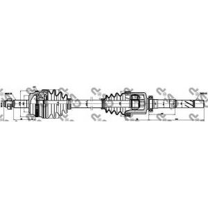 Приводной вал 250059 gsp - RENAULT MASTER II c бортовой платформой/ходовая часть (ED/HD/UD) c бортовой платформой/ходовая часть 3.0 dCi 140 (ED0S, UD0S)