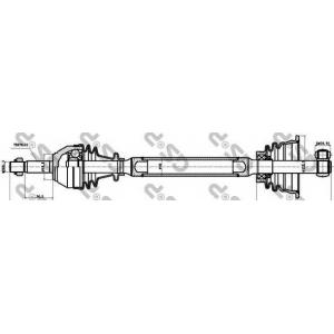 Приводной вал 250150 gsp - RENAULT TWINGO (C06_) Наклонная задняя часть 1.2 (C063, C064)
