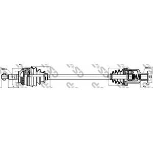 Приводной вал 250193 gsp - RENAULT CLIO II (BB0/1/2_, CB0/1/2_) Наклонная задняя часть 1.5 dCi (B/CB08)