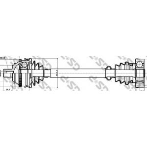 GSP 261004 Напіввісь VW T4 1.9-2.5TDI 90-