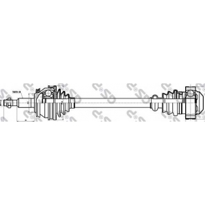 Приводной вал 261105 gsp - VW MULTIVAN V (7HM, 7HN, 7HF, 7EF, 7EM, 7EN) вэн 2.0