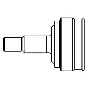 808016 gsp Шарнирный комплект, приводной вал DAEWOO KALOS Наклонная задняя часть 1.4