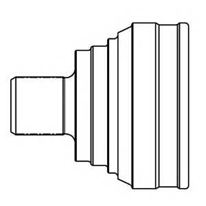 834015 gsp Шарнирный комплект, приводной вал MAZDA 3 Наклонная задняя часть 1.6