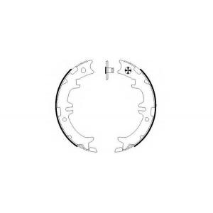 BEHR-HELLA 8DA 355 050-541 Комплект тормозных колодок, стояночная тормозная система