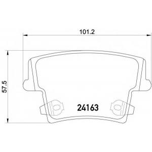 HELLA 8DB 355 011-881 Комплект тормозных колодок, дисковый тормоз Додж Чарджер