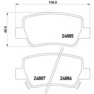 HELLA 8DB355014-641 Brake Pad