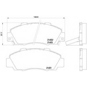 HELLA 8DB 355 016-441 Комплект тормозных колодок, дисковый тормоз Акура Нсх