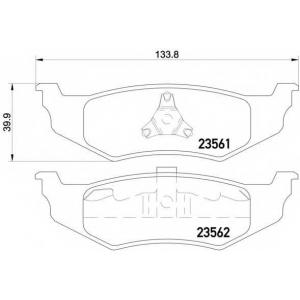 HELLA 8DB 355 018-661 Комплект тормозных колодок, дисковый тормоз Крайслер Сайрус