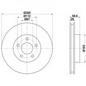 HELLA 8DD355110-071 Brake disc