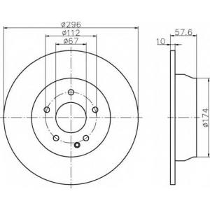 BEHR-HELLA 8DD 355 110-091 Тормозной диск