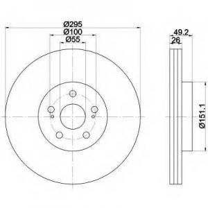 BEHR-HELLA 8DD 355 111-651 Тормозной диск