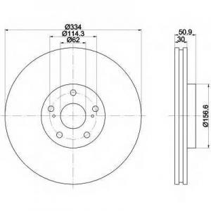 BEHR-HELLA 8DD 355 112-871 Тормозной диск