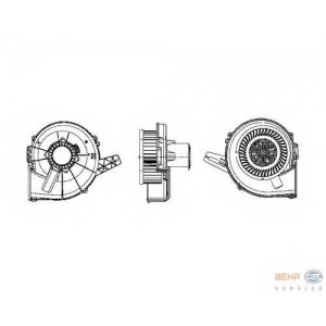HELLA 8EW 009 157-111 Вентилятор кондиционера