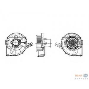HELLA 8EW 009 157-131 SA-FAB 99- Вентилятор кондиционера