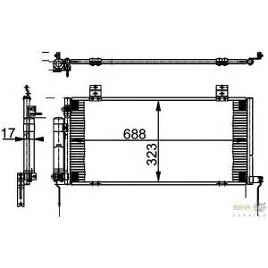 HELLA 8FC351301-781 AC condenser