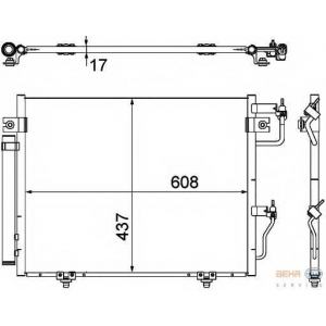 HELLA 8FC351307-371 AC condenser