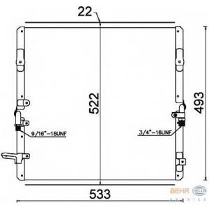 HELLA 8FC351307-591 AC condenser