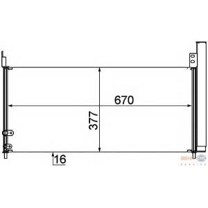 HELLA 8FC351310-201 AC condenser