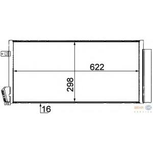 HELLA 8FC351310-591 AC condenser