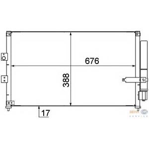 HELLA 8FC351318-611 AC condenser