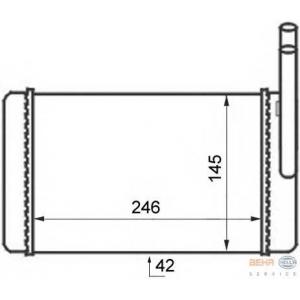 HELLA 8FH351024-311 Heater radiator