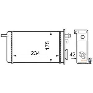 HELLA 8FH351024-341 Heater radiator