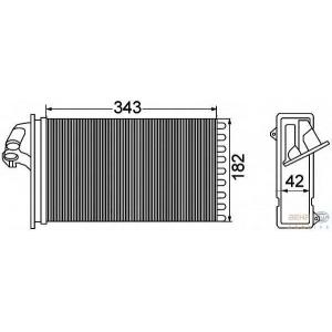 HELLA 8FH351308-431 Heater radiator