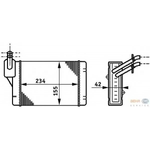HELLA 8FH351311-061 Heater radiator