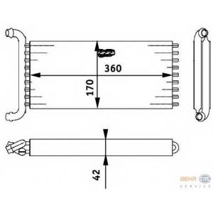 HELLA 8FH351312-141 Heater radiator