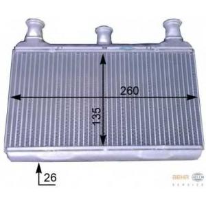 HELLA 8FH351312-161 Heater radiator
