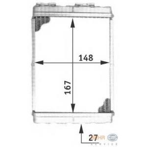 HELLA 8FH351313-081 Heater radiator