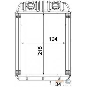 HELLA 8FH351315-351 Heater radiator