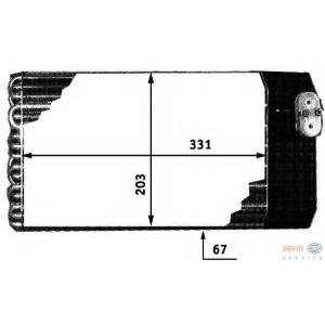 HELLA 8FV 351 210-581 Испаритель, кондиционер