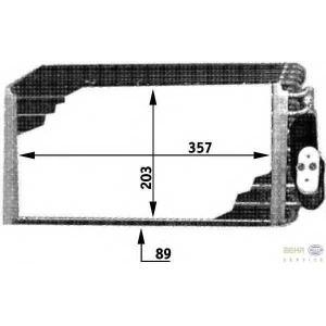 HELLA 8FV 351 210-711 Испаритель, кондиционер