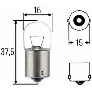 HELLA 8GA 002 071-121 Лампа накаливания, фонарь указателя поворота; Лампа накаливания, фонарь освещения номерного знака; Лампа накаливания, задний гарабитный огонь; Лампа накаливания, oсвещение салона; Лампа накаливания, фонарь освещения багажника; Лампа накаливания, стояночны