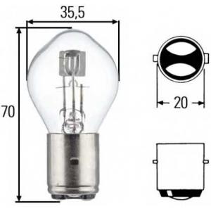 HELLA 8GD002084131 Лампа накаливания, основная фара