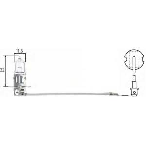 BEHR-HELLA SERVICE 8GH 002 090-251 Лампа H3   24V 70W