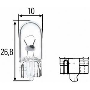 HELLA 8GP 003 594-121 Лампа накаливания, фонарь указателя поворота; Лампа накаливания, фонарь освещения номерного знака; Лампа накаливания, задний гарабитный огонь; Лампа накаливания, oсвещение салона; Лампа накаливания, фонарь освещения багажника; Лампа накаливания, подкапотн