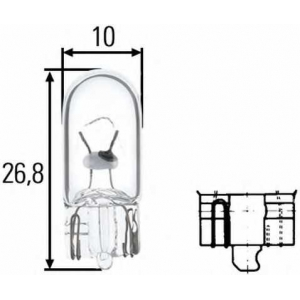 HELLA 8GP003594141 Лампа накаливания, фонарь освещения номерного знака