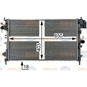HELLA 8MK376700264 Радиатор, охлаждение двигател