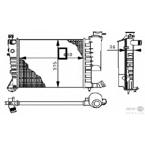 HELLA 8MK376710254 Радиатор, охлаждение двигател