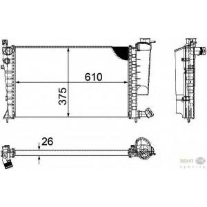 HELLA 8MK376710-264 Radiator