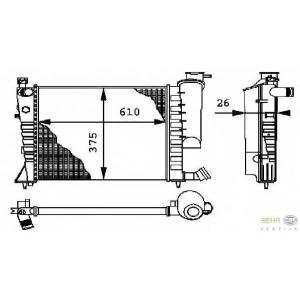 HELLA 8MK376712-611 Radiator